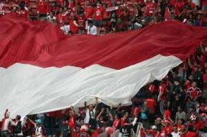Indonesische supporters voor de wedstrijd tegen Maleisië