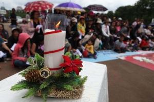 Kerstviering bij het presidentiële paleis in Jakarta