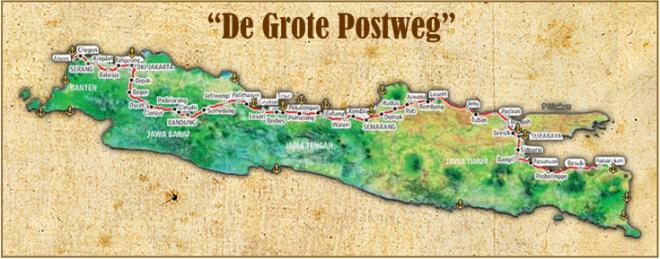 Grote Postweg kaart