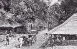 De Grote Postweg bij de Puncakpas (19e eeuw)