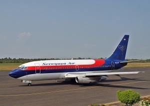 Een Boeing 737-200 van Sriwijaya Air