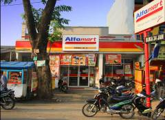 Een Alfamart in Depok, net ten zuiden van Jakarta