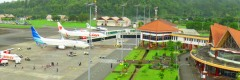 Het vliegveld van Ambon
