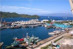 De haven van Bitung