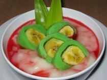 Es pisang hijau