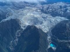 Het mijngebied van Grasberg