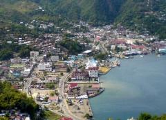 Jayapura, de hoofdstad van de provincie Papoea