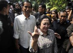 De mogelijke kandidaten van PDI-P: Joko Widodo en Megawati Sukarnoputri.
