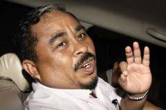 Luthfi Hasan Ishaaq tijdens zijn arrestatie