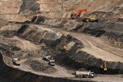 Een kolenmijn in de provincie Oost-Kalimantan