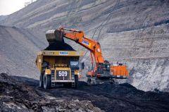 Steenkoolmijn in Muara Teweh (provincie Centraal-Kalimantan)