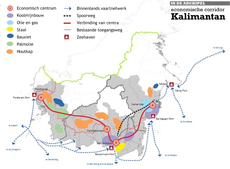 De economie van kalimantan centrum voor mijnbouw in de archipel - Corridor ontwikkeling ...