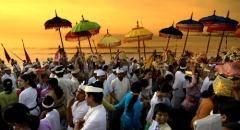 Viering van Nyepi op Bali
