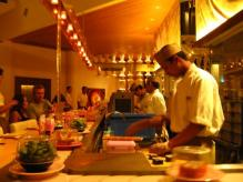 Een sushirestaurant op Bali.