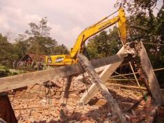 De Taman Sari-kerk in Bekasi is gesloopt.