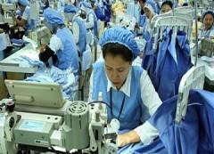 Een textielfabriek in Bandung (West-Java)