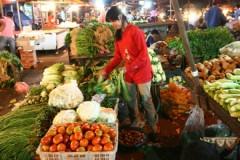 Groente koopt men gewoonlijk op de traditionele markt.