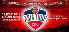 Affiche voor de wedstrijd van Arsenal in Jakarta.