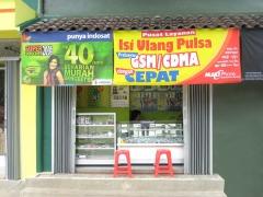 Een winkeltje waar beltegoed en simkaarten verkocht worden.