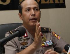 Brigadegeneraal Boy Rafli Amar, hoofdwoordvoerder van de nationale politie