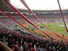 Het Gelora Bung Karno-stadion in Jakarta.
