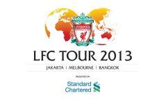 Het logo van de tournee van Liverpool FC.