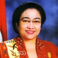 Megawati aan het begin van haar presidentschap in 2001.