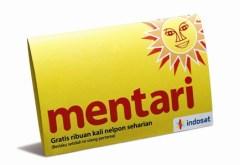Simkaart van Mentari, op het netwerk van Indosat.