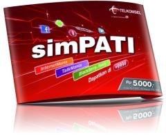 Simkaart van simPATI, op het netwerk van Telkomsel.