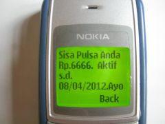 """""""U heeft nog 6.666 rupiah beltegoed. Dit is actief t/m 8 april 2012."""""""