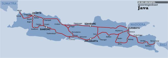 Spoorkaart Indonesie