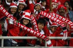 Fans van het Indonesische elftal.