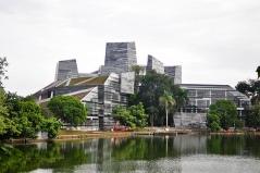 De bibliotheek van de Universiteit van Indonesië.