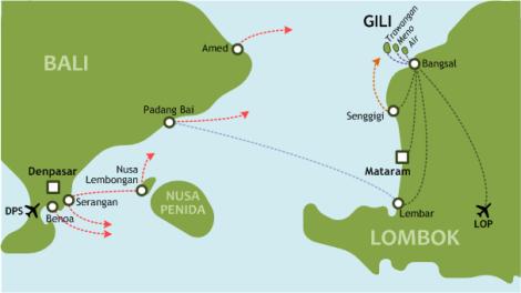 gili eilanden kaart Van Bali naar de Gili eilanden, hoe?   Lucky we! Wij wonen op Bali