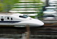 Shinkansen-trein in Japan.
