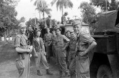 Nederlandse militairen in Indonesië tijdens de politionele acties.