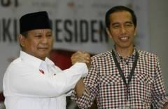 Kandidaten Prabowo Subianto en Joko Widodo