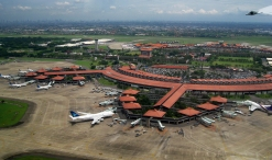 Soekarno-Hatta Airport aerial view