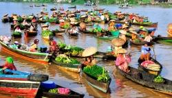 Banjarmasin drijvende markt