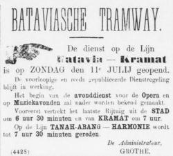 Batavia tram Kramat