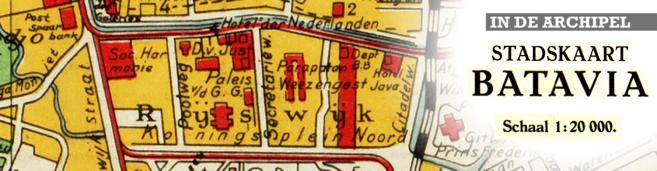 Plaatje Straatnamen Batavia Jakarta klein