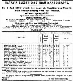 BETM dienstregeling 1900