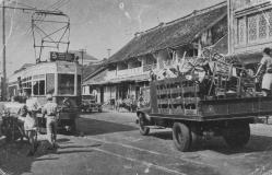 Elektrische tram lijn 5 naar Tanah Abang
