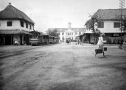 Stoomtram bij het stadhuis 1900-1930
