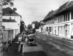 Stoomtram Nieuwpoortstraat 1885