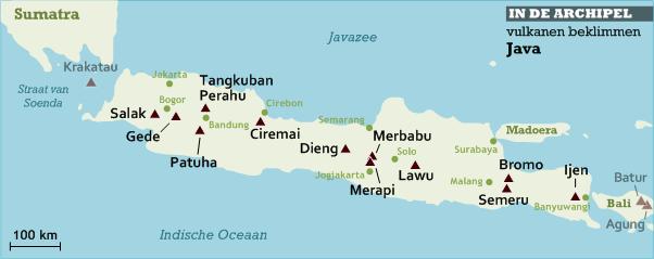 Vulkanen beklimmen Java kaart.png