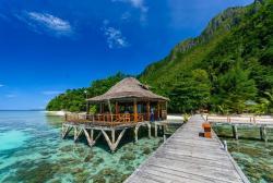 Strand resort Seram Molukken
