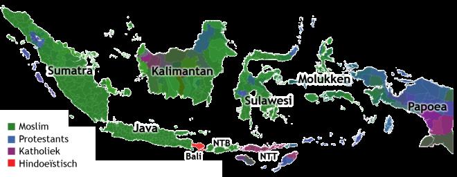 Kaart religies Indonesie.png