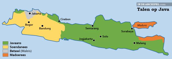 Talen op Java kaart